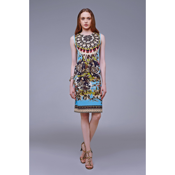 Roberto Cavalli DAY DREAM SHEATH DRESS YELLOW On Sale