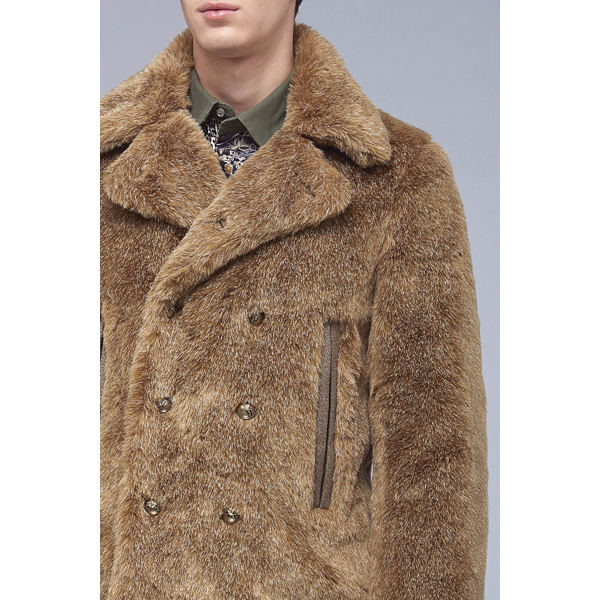 Roberto Cavalli FAUX-FUR CABAN LIGHT/PASTEL BROWN On Sale