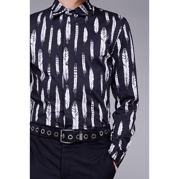 Roberto Cavalli NEW FEATHER COTTON BLOUSE BLACK On Sale