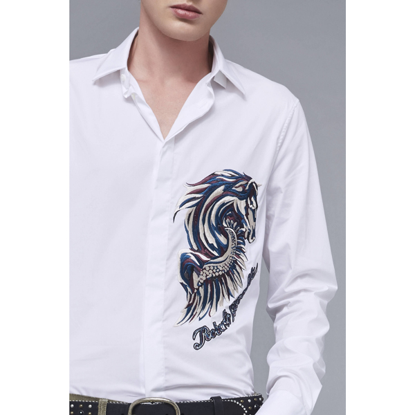 Roberto Cavalli SLIM FIT BLOUSE WHITE On Sale