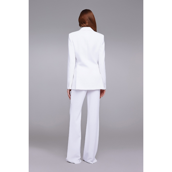 Roberto Cavalli 3-POCKET DOUBLE-BREASTED JACKET OPTICAL WHITE On Sale